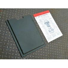 Lubrication chart and holder for under hood bonnet
