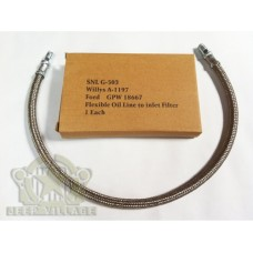 GPW 18667 A1197 Long Flexible Oil Line to Inlet Filter