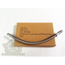 GPW 18666 A1198 Short Flexible Oil Line to Outlet Filter and Oil Gauge