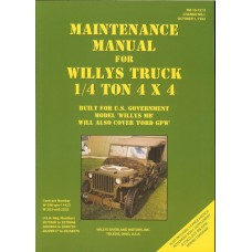 Maintenance Manual For Willys Truck 1/4 ton 4X4, Ford GPW