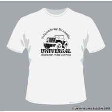 Official Universal Jeep Supplies t-shirt in White Cotton