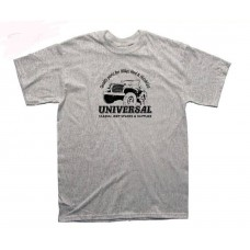 Universal Jeep Supplies Grey Marl MB GPW Jeep T-shirt SIZE SMALL