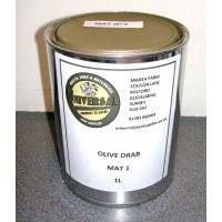 Olive Drab Green Matt 1 Paint tin 1 litre can