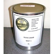 Olive Drab Matt Paint tin 1 litre can