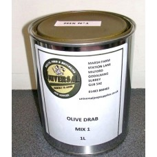 Olive Drab Green Mix 1 Paint tin 1 litre can